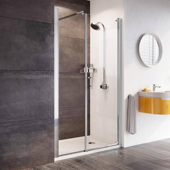 Roman Innov8 Pivot Shower Door with In-Line Panel Alcove Fitting 1000mm