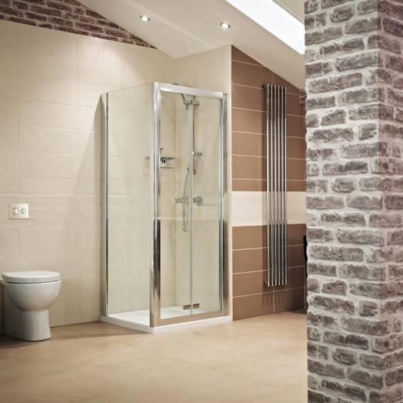 Roman Lumin8 Bi-Fold Shower Door 760mm