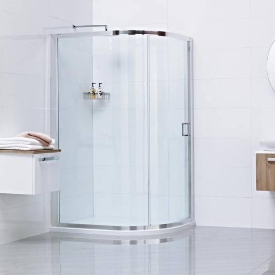 Roman Lumin8 One Door Offset Quadrant Sliding Shower Door 800 x 900mm