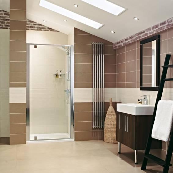 Roman Lumin8 Pivot Shower Door 760mm