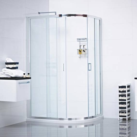 Roman Lumin8 Two Door Offset Quadrant Sliding Shower Door 800 x 900mm