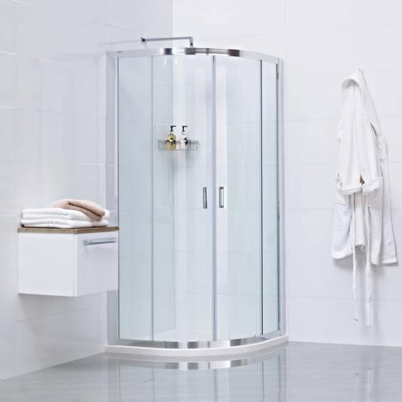 Roman Lumin8 Two Door Quadrant Sliding Shower Door 800 x 800mm