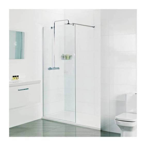 Roman Select 10mm Wetroom Corner Panel 400mm