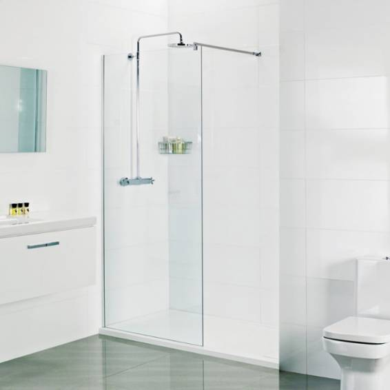 Roman Select 8mm Wetroom Corner Panel 600mm