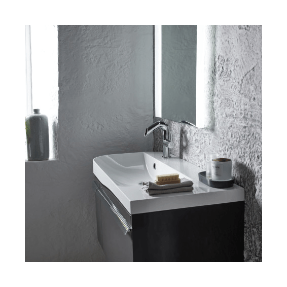 Roper Rhodes Cirrus 900mm Right Hand Wall Mounted Unit with Basin Gloss Clay