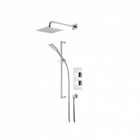 Roper Rhodes Code Dual Function Shower System with Fixed Shower head & Riser Rail