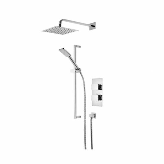 Roper Rhodes Elate Dual Function Shower System with Fixed Shower head & Riser Rail