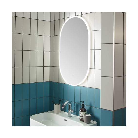 Roper Rhodes Eminence Pill Illuminated Bathroom Mirror 500mm