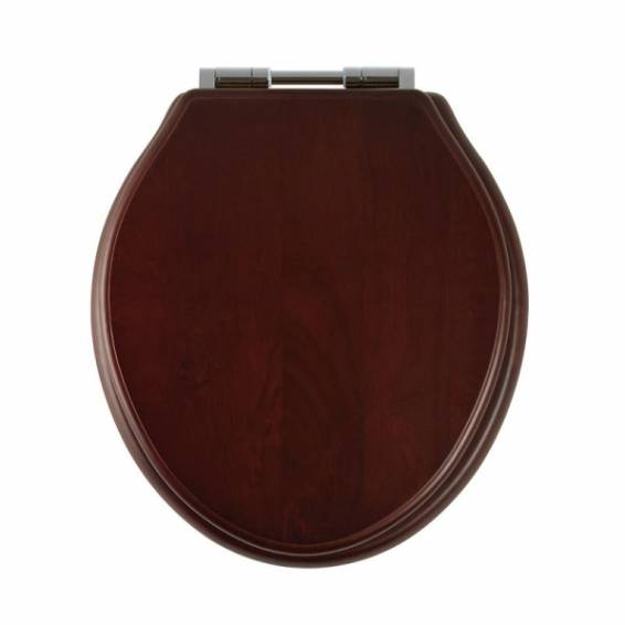 Roper Rhodes Greenwich Mahogany Solid Wood Toilet Seat with Soft Close Hinges