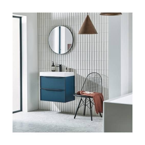 Roper Rhodes Grey Frame Circular Illuminated Bathroom Mirror 600mm