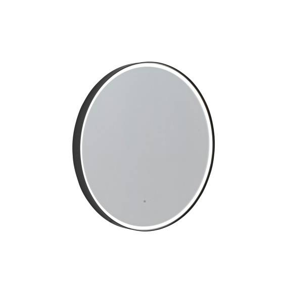 Roper Rhodes Grey Frame Circular Illuminated Bathroom Mirror 800mm