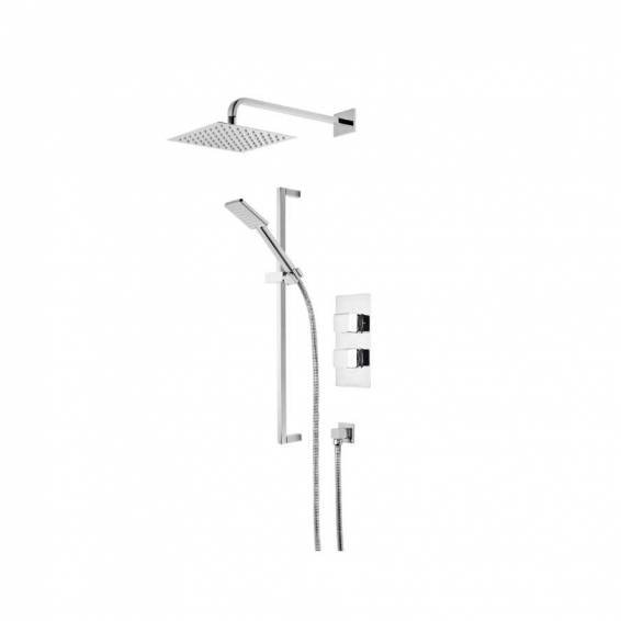 Roper Rhodes Hydra Dual Function Shower System with Fixed Shower head & Riser Rail