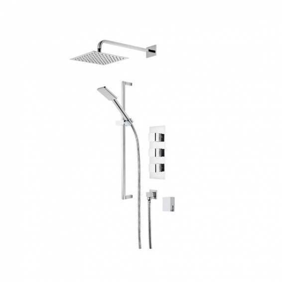 Roper Rhodes Hydra Triple Function Shower System with Smart Flow Bath Filler, Fixed Head & Riser Rail