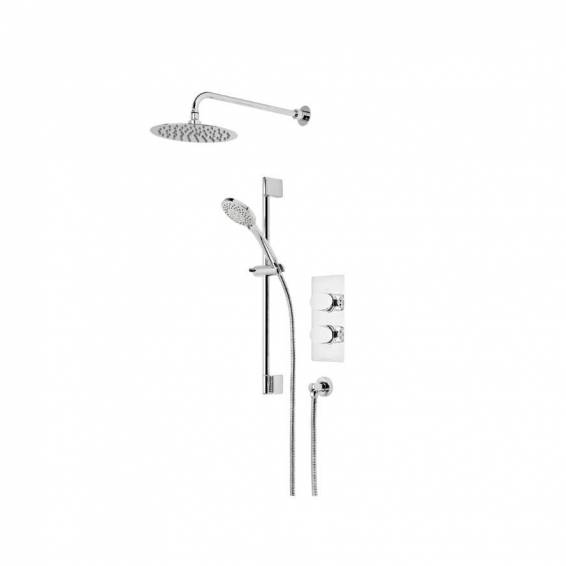 Roper Rhodes Image Dual Function Shower System with Fixed Shower head & Riser Rail