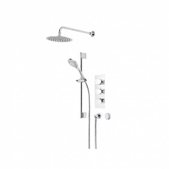 Roper Rhodes Image Triple Function Shower System with Smart Flow Bath Filler, Fixed Head & Riser Rail