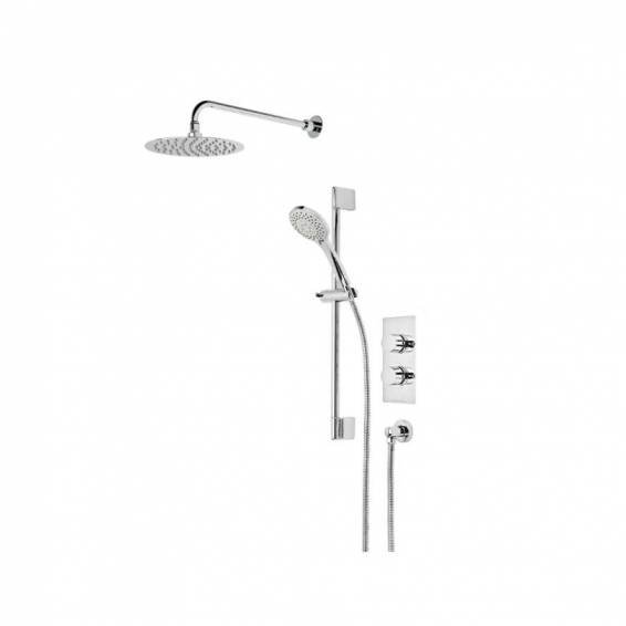 Roper Rhodes Insight Dual Function Shower System with Fixed Shower head & Riser Rail