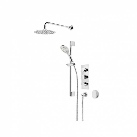 Roper Rhodes Insight Triple Function Shower System with Smart Flow Bath Filler, Fixed Head & Riser Rail