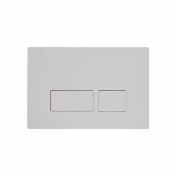 Roper Rhodes Plaza Dual Flush Plate White