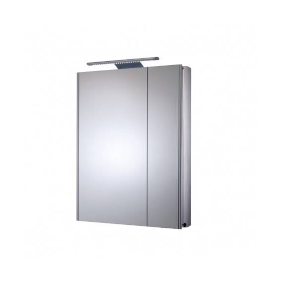 Roper Rhodes Refine Slimline Double Door Aluminium Bathroom Cabinet with Electrics 615mm