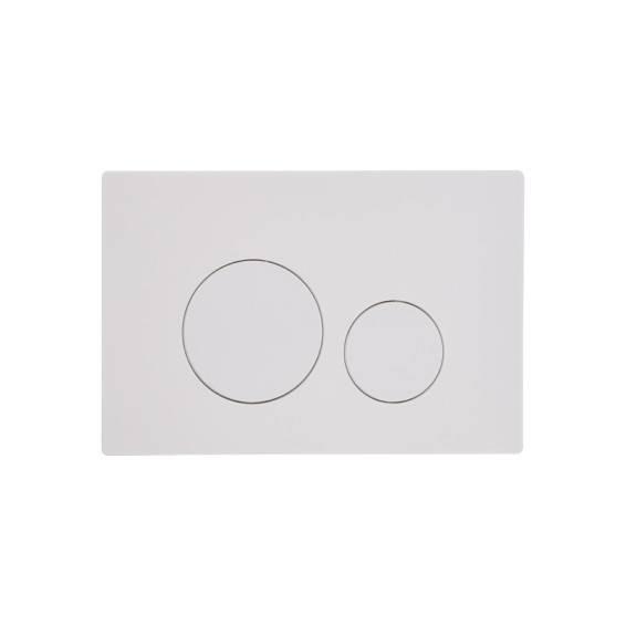 Roper Rhodes Rondo Dual Flush Plate White