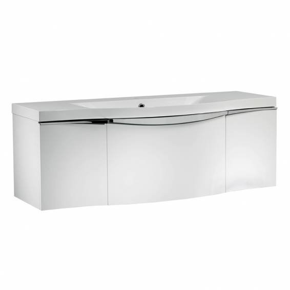 Roper Rhodes Serif 1200mm Wall Mounted Unit with Basin Gloss White