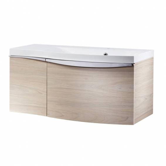 Roper Rhodes Serif 900mm Right Hand Wall Mounted Unit with Basin Light Elm
