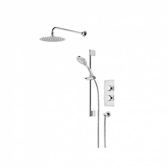 Roper Rhodes Stream Dual Function Shower System with Fixed Shower head & Riser Rail