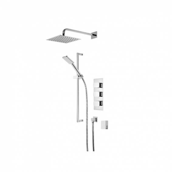 Roper Rhodes Sync Triple Function Shower System with Smart Flow Bath Filler, Fixed Head & Riser Rail
