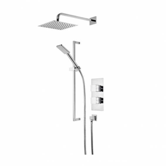 Roper Rhodes Veer Dual Function Shower System with Fixed Shower head & Riser Rail