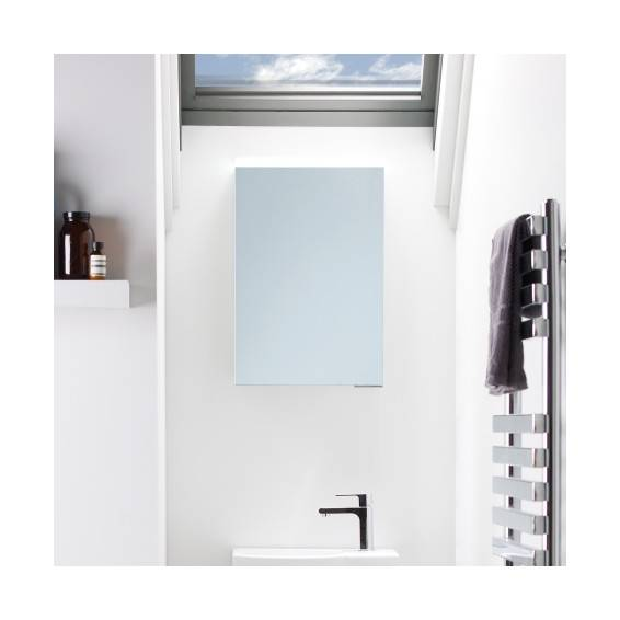 Roper Rhodes Viper Illuminated Aluminium Bathroom Cabinet 400mm