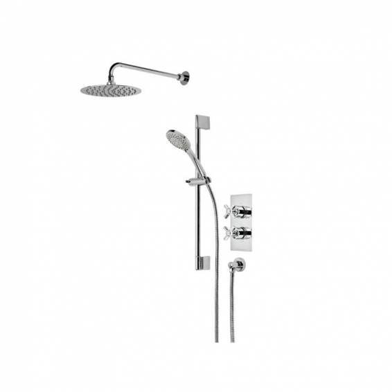 Roper Rhodes Wessex Dual Function Shower System with Fixed Shower head & Riser Rail