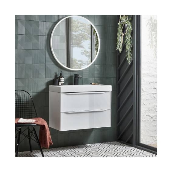 Roper Rhodes White Frame Circular Illuminated Bathroom Mirror 600mm