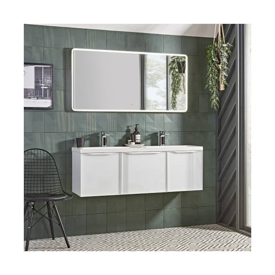 Roper Rhodes White Frame Illuminated Bathroom Mirror 1200mm