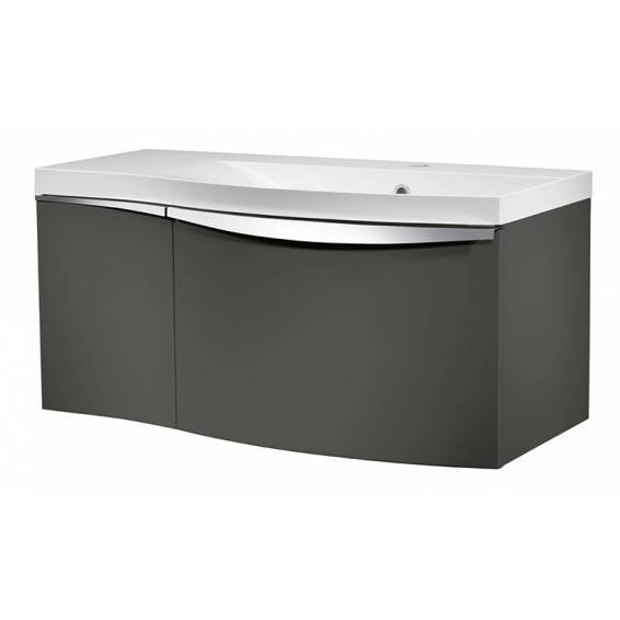 Roper Rhodes Serif 900mm Right Hand Wall Mounted Unit with Basin Gloss Dark Clay