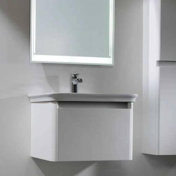 Tavistock Equate 600mm Wall Mounted Vanity Unit & Basin Gloss White