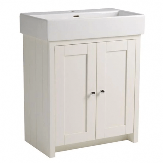 Tavistock Lansdown 700mm Freestanding Vanity Unit & Basin Linen White