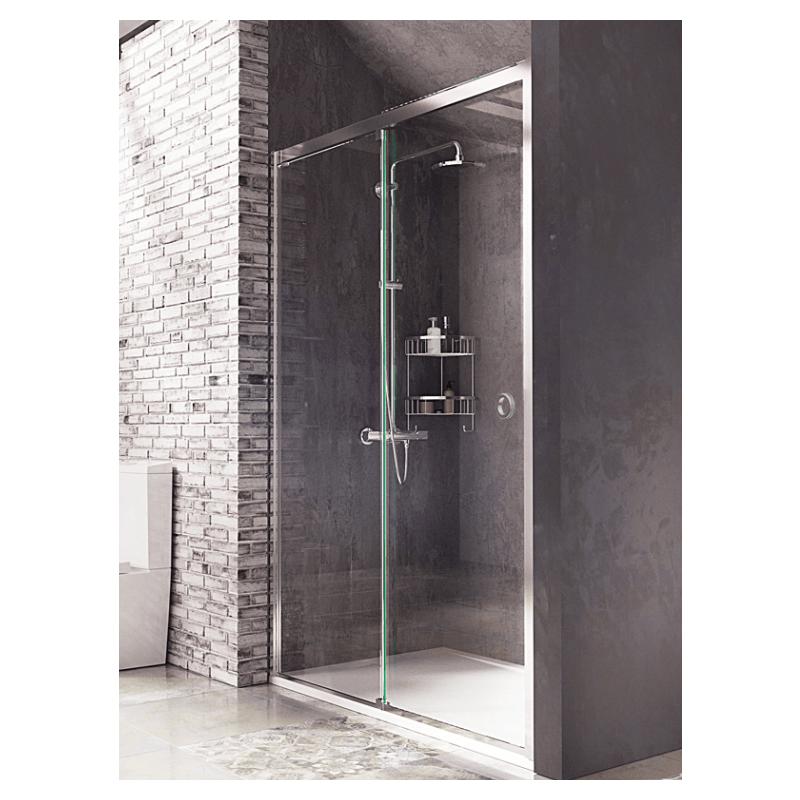 Roman Decem Sliding Shower Door With Finger Pull Handle