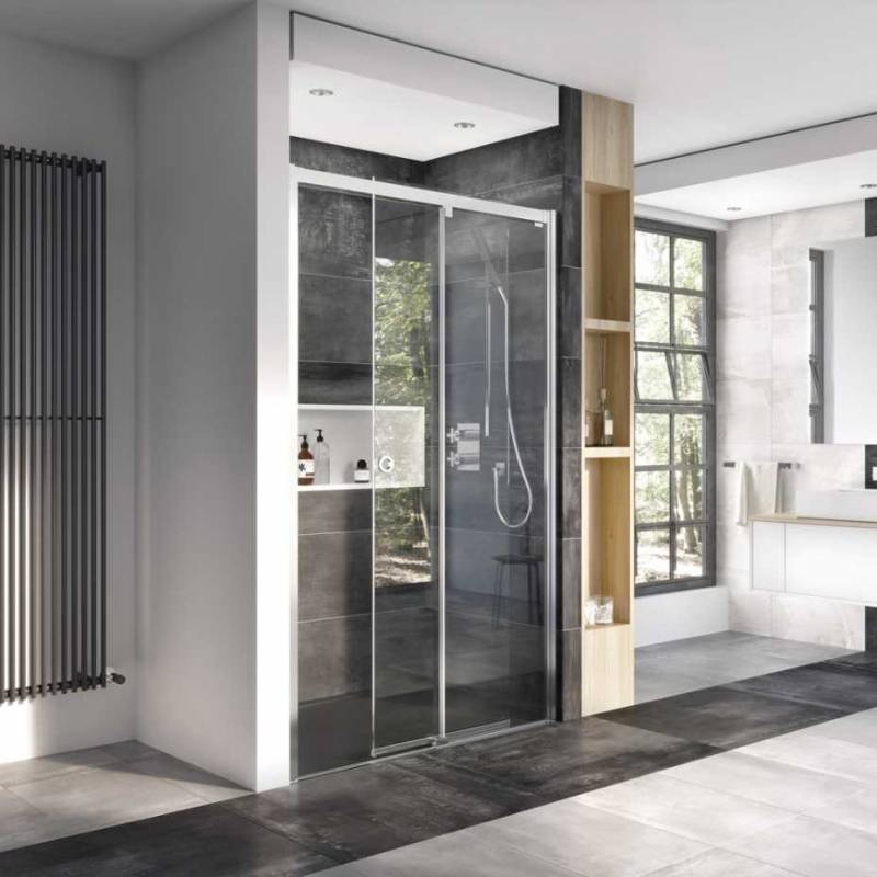 Roman Decem Level Access Sliding Shower Door Corner